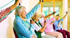 seniors doing their exercise